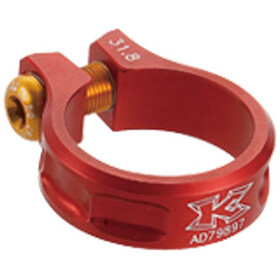 KCNC MTB saddle clamp Ø36,4mm, red
